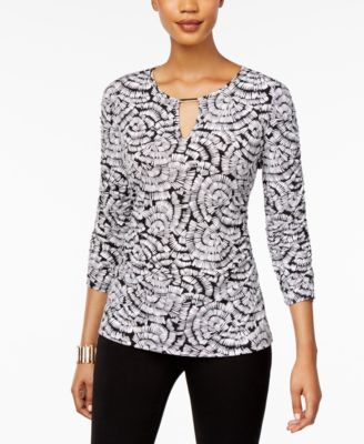 Ruched Hardware Top, Created for Macy's