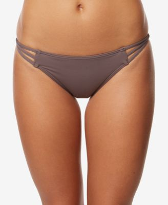Juniors' Salt Water Solid Strappy Cheeky Bikini Bottoms,Created for Macy's Style