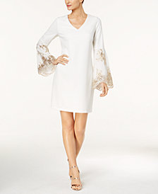 MSK Embellished Bell-Sleeve Shift Dress