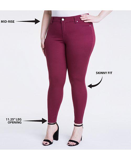 8e44d45b1e7 Celebrity Pink Trendy Plus Size Jayden Colored Skinny Jeans ...