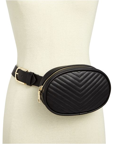 2707481bd Steve Madden Chevron Quilted Fanny Pack & Reviews - Handbags ...