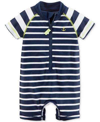 Carter's 1-Pc. Striped Rash Guard Swimsuit, Baby Boys