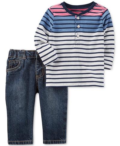 Carter's 2-Pc. Cotton Top & Jeans Set, Baby Boys