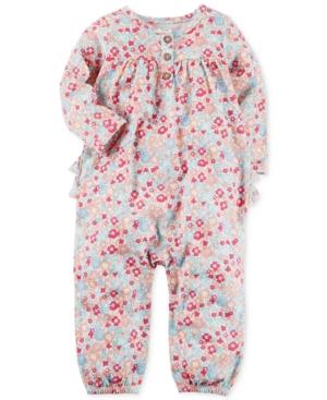 Carters FloralPrint Cotton Coverall Baby Girls (024 months)