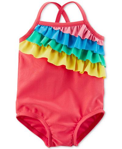 Carter's Rainbow Ruffle Swimsuit, Baby Girls