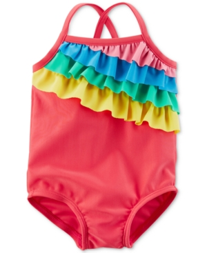 Carters Rainbow Ruffle Swimsuit Baby Girls (024 months)