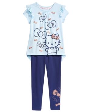 Hello Kitty 2Pc Top  Jogger Pants Set Little Girls (46X)