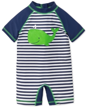 Little Me Striped Whale Rash Guard Swimsuit Baby Boys (024 months)