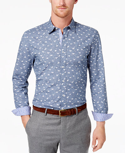 Con.Struct Men's Printed Shirt, Created for Macy's