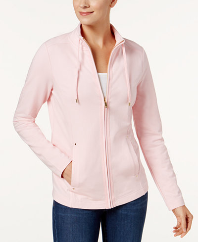 Charter Club French Terry Jacket, Created for Macy's