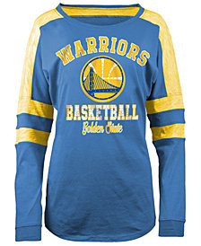 5th & Ocean Women's Golden State Warriors Space Dye Long Sleeve T-Shirt