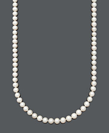 """Belle de Mer AA+ 30"""" Cultured Freshwater Pearl Strand Necklace (8-1/2-9-1/2mm) in 14k Gold"""