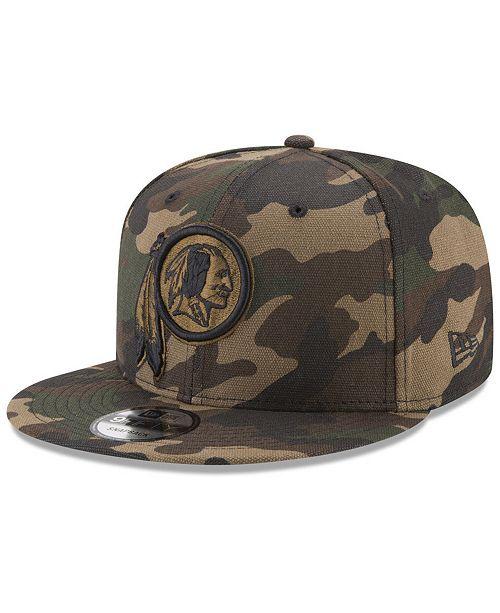 947226f4c3c ... New Era Washington Redskins Camo on Canvas 9FIFTY Snapback Cap ...
