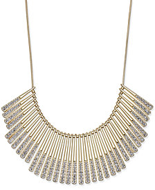 I.N.C. Gold-Tone Pavé Statement Necklace, Created for Macy's