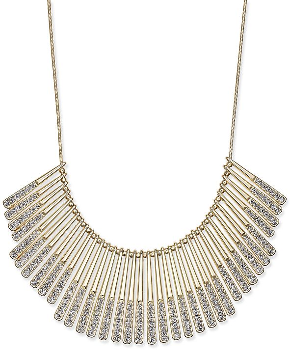 INC International Concepts INC Gold-Tone Pavé Statement Necklace, Created for Macy's