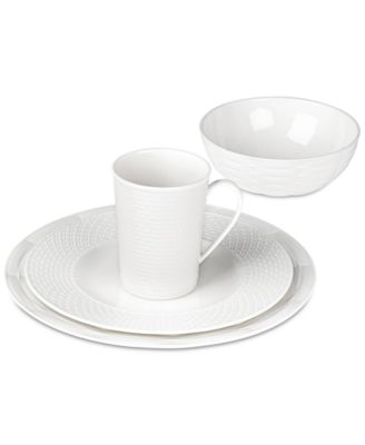 Entertain 365 Sculpture Mixed Round 4-Pc. Place Setting