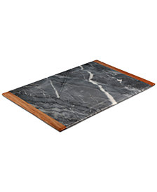 CLOSEOUT! Thirstystone Wood-Trimmed Marble Pastry Board