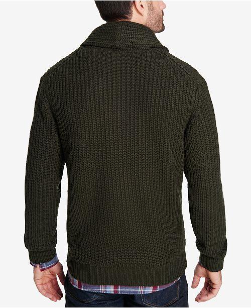 Weatherproof Vintage Mens Shawl Collar Cardigan Sweaters Men
