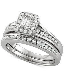 Diamond Bridal Set (3/4 ct. t.w.) in 14k White Gold