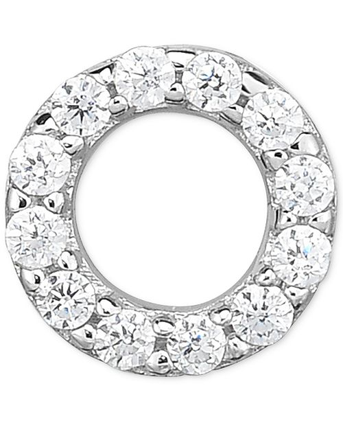 Macy's Diamond Accent Circle Single Stud Earring in 14k White Gold