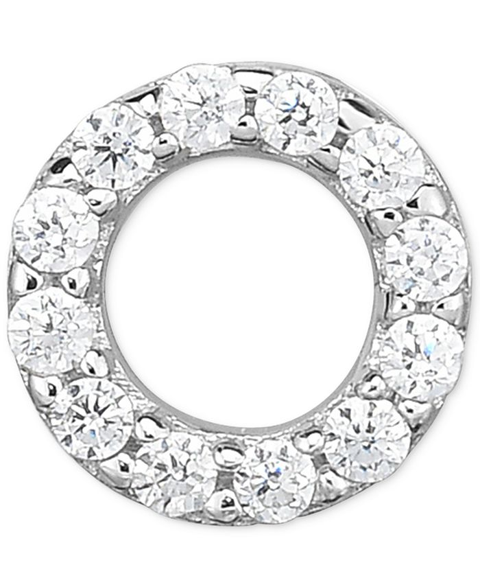 Macy's - Diamond Accent Circle Single Stud Earring in 14k White Gold