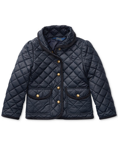 Ralph Lauren Quilted Jacket, Little Girls (4-6X) - Coats & Jackets ...