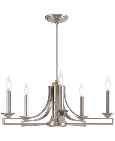 Livex trumbull 6 light steel chandelier