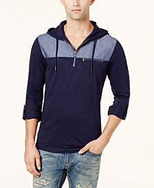 INC Men's Quarter-Zip Hoodie, Created for Macy's