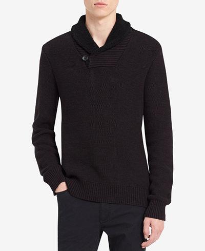 Calvin Klein Jeans Men's Shawl Collar Sweater