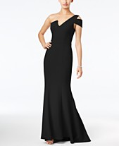 feea87d891 Betsy   Adam One-Shoulder A-Line Gown