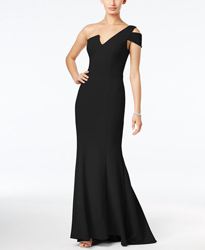 Betsy Amp Adam One Shoulder A Line Gown Dresses Women