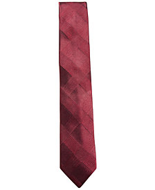 Ryan Seacrest Distinction™ Men's Malta Plaid Slim Silk Tie, Created for Macy's