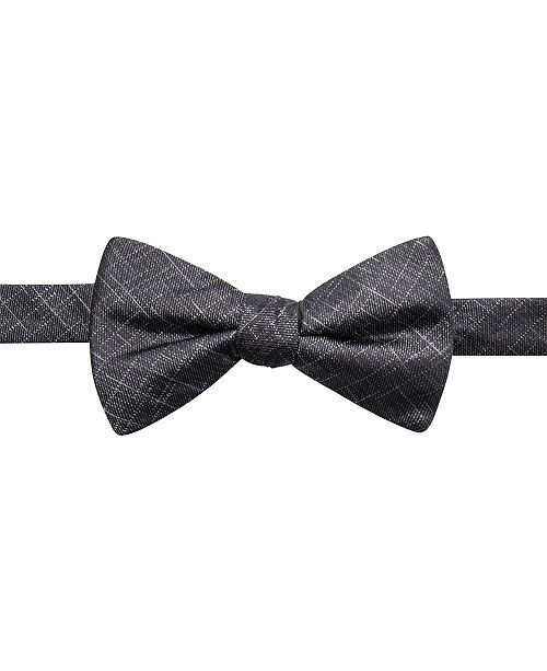 Ryan Seacrest Distinction Men's Orwell Unsolid Solid Pre-Tied Silk Bow Tie, Created for Macy's