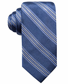 Ryan Seacrest Distinction™ Men's Kingston Stripe Slim Silk Tie, Created for Macy's