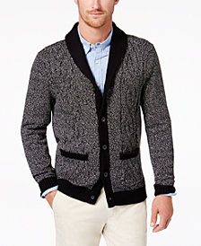 Club Room Men's Marled Cardigan, Created for Macy's
