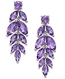 Amethyst Vine Drop Earrings (5-3/4 ct. t.w.) in Sterling Silver (Also Available In Blue Topaz, Garnet, Mystic Quartz, Peridot and Multi Gemstone)