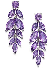 Amethyst Vine Drop Earrings (5-3/4 ct. t.w.) in Sterling Silver (Also Available In Garnet, Peridot, & Blue Topaz)