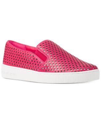 MICHAEL Michael Kors Keaton Star-Perforated Slip-On Sneakers, A Macy\u0027s  Exclusive Style