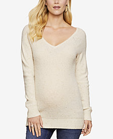 Jessica Simpson Maternity V-Neck Sweater