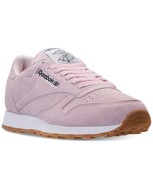 16a7dfe38d73 ... Reebok Men s Classic Leather Pastels Casual Sneakers from Finish ...