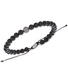 DEGS & SAL Men's (6mm) Bead Bolo Bracelet in Sterling Silver