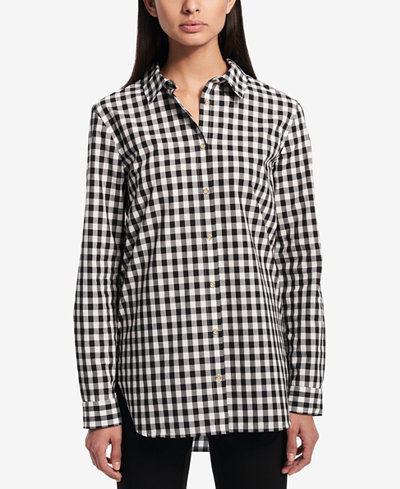 Calvin Klein High-Low Utility Shirt