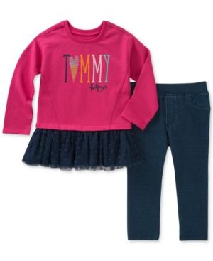 Tommy Hilfiger 2Pc Tunic  Denim Leggings Set Little Girls (46X)
