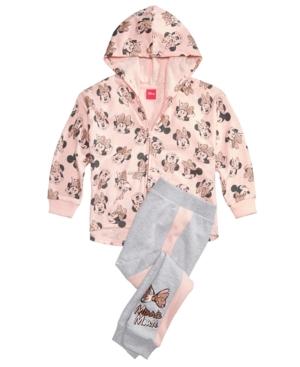 Disney 2Pc Minnie Mouse Hoodie  Jogger Pants Set Little Girls (46X)
