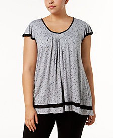 Ellen Tracy Plus Size Yours to Love Short Sleeve Top