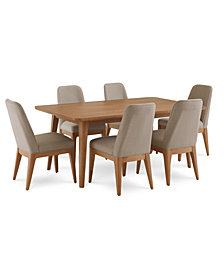 Martha Stewart Collection Brookline Expandable Dining Furniture, 7-Pc. Set (Dining Table & 6 Side Chairs), Created for Macy's