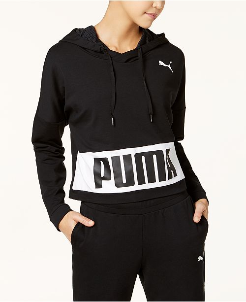 Logo Puma Terry dryCELL Hoodie French Black 46r6twTq