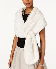 SL Fashions Pull-Through Faux-Fur Wrap