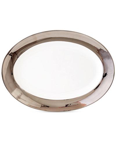Darbie Angell Monaco Platinum Oval Platter