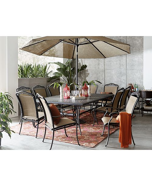 Furniture Beachmont Ii Outdoor 11 Pc Dining Set 84 X 60